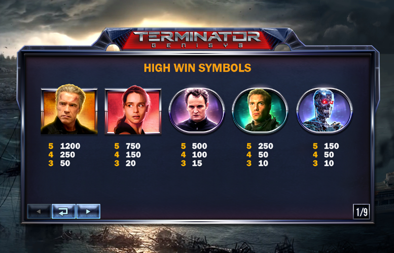 Play the New Terminator Genisys Slot from Playtech